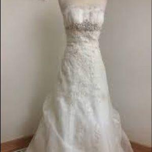 David's bridal trumpet wedding dress gown wg3121